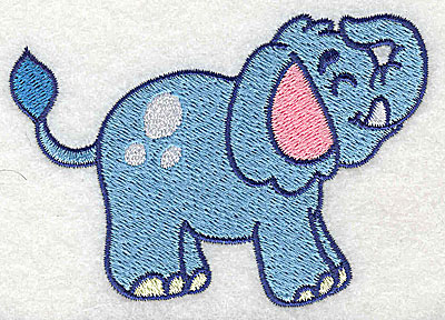 Embroidery Design: Elephant small 3.55w X 2.49h