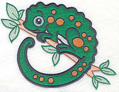 Embroidery Design: Chameleon applique 6.69w X 4.99h