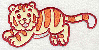 Embroidery Design: Tiger two appliques 6.97w X 3.58h