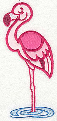 Embroidery Design: Flamingo three appliques 6.97w X 3.03h