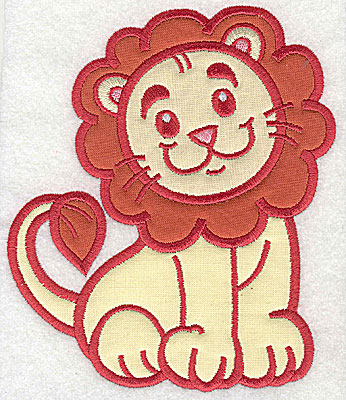 Embroidery Design: Lion three appliques 5.82w X 4.97h