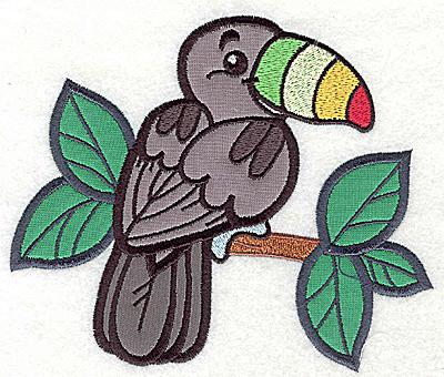 Embroidery Design: Tucan three appliques 5.80w X 4.95h