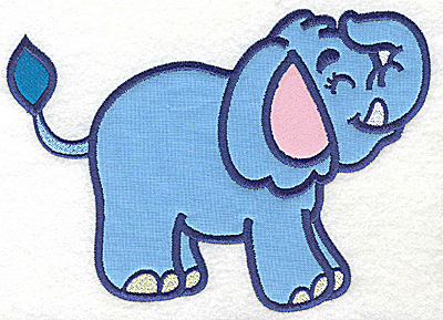 Embroidery Design: Elephant two appliques 5.99w X 4.97h