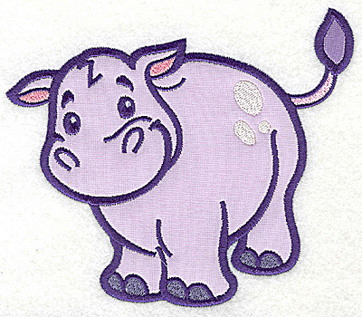 Embroidery Design: Hippopotamus two appliques 5.69w X 4.94h