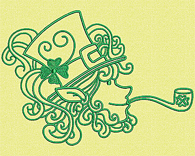 Embroidery Design: Leprechaun Head 5.44w X 3.81h