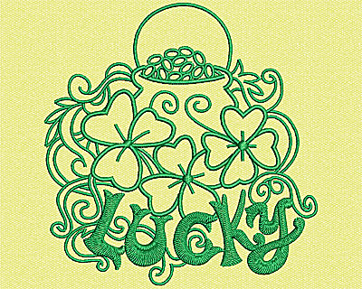 Embroidery Design: Pot Of Gold 4.50w X 4.31h