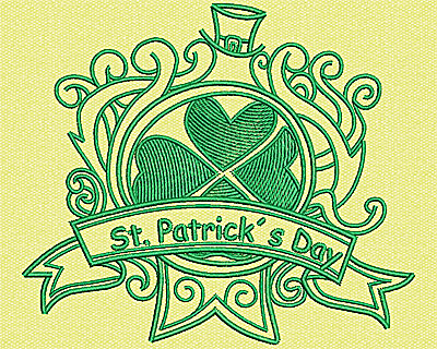 Embroidery Design: St Patricks Day 3.94w X 4.56h
