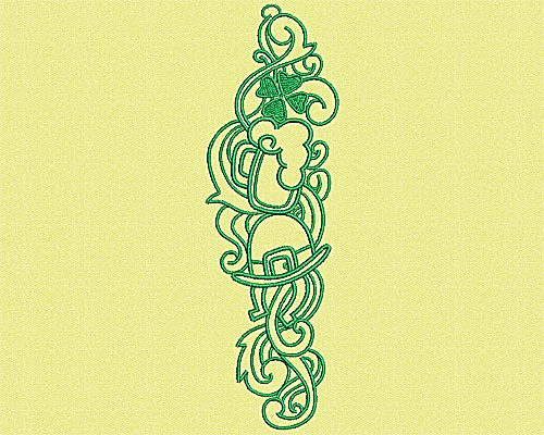 Embroidery Design: Irish embellishment 6.75w X 2.13h
