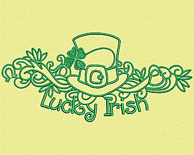 Embroidery Design: Lucky Irish 2.75w X 5.88h