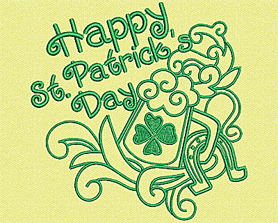 Embroidery Design: St Patricks Day 4.19w X 4.19h
