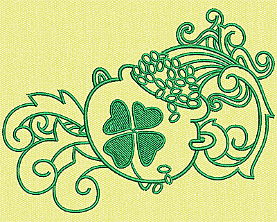 Embroidery Design: Pot Of Gold 3.50w X 4.63h