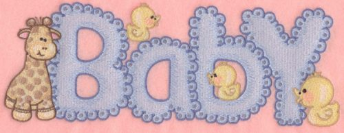 Embroidery Design: Baby10.92w X 3.92h