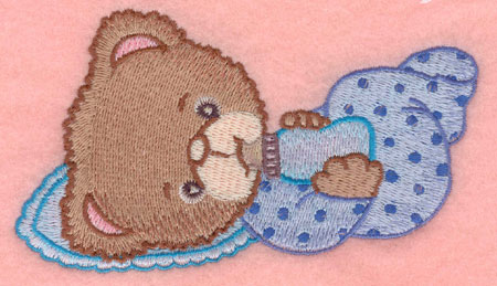 Embroidery Design: Baby bear with bottle large5.00w X 2.83h