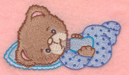 Embroidery Design: Baby bear with bottle small3.90w X 2.21h