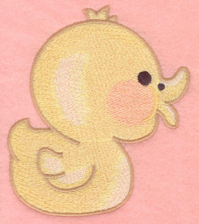 Embroidery Design: Duck large4.31w X 4.92h