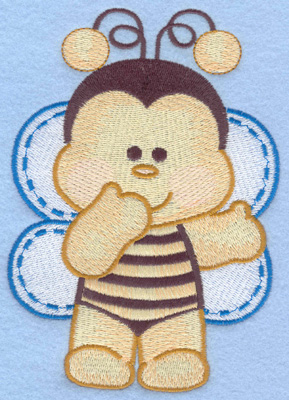 Embroidery Design: Bumble bee standing large4.10w X 5.84h