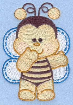 Embroidery Design: Bumble bee standing small2.74w X 3.90h