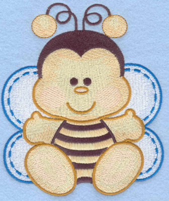 Embroidery Design: Bumble bee sitting large4.87w X 5.84h