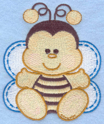 Embroidery Design: Bumble bee sitting small3.25w X 3.91h