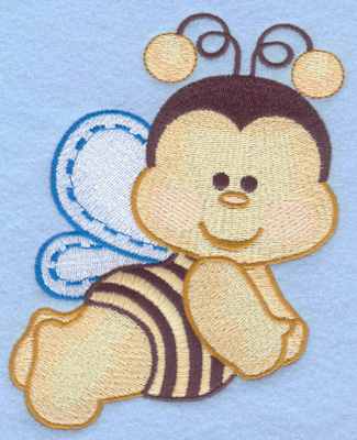Embroidery Design: Flying bumble bee large4.36w X 5.84h