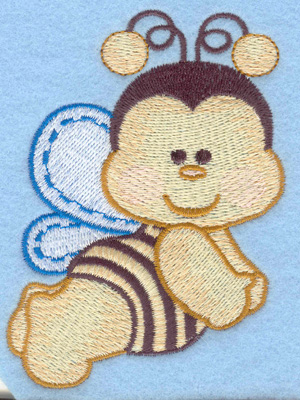 Embroidery Design: Flying bumble bee small2.91w X 3.90h