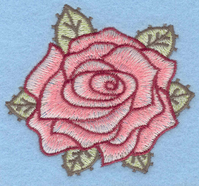 Embroidery Design: Rose large3.30w X 3.01h