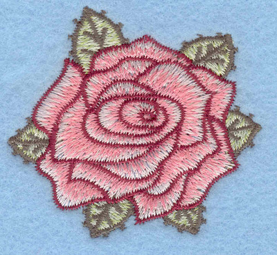 Embroidery Design: Rose small2.21w X 2.02h