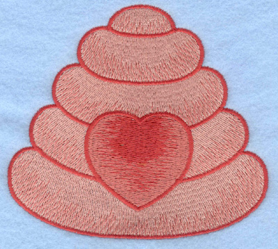 Embroidery Design: Beehive with heart large4.56w X 4.10h