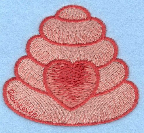 Embroidery Design: Beehive with heart medium2.89w X 2.59h