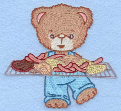 Embroidery Design: Bear with full grill large5.00w X 4.72h