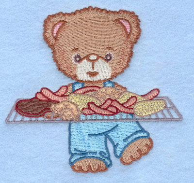 Embroidery Design: Bear with full grill small3.90w X 3.70h