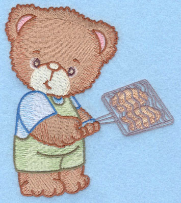 Embroidery Design: Bear with chicken large4.31w X 5.01h