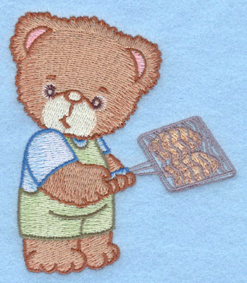 Embroidery Design: Bear with chicken small3.37w X 3.90h