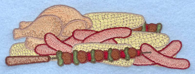 Embroidery Design: Barbequed food5.25w X 1.81h