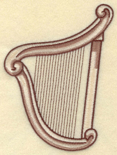 Embroidery Design: Harp Large4.07w X 5.32h