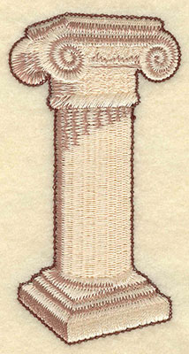 Embroidery Design: Pillar Small1.98w X 3.83h