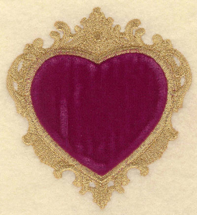 Embroidery Design: Heart Applique Small3.61w X 3.92h