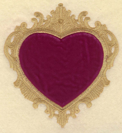 Embroidery Design: Heart Applique Large5.52w X 6.01h