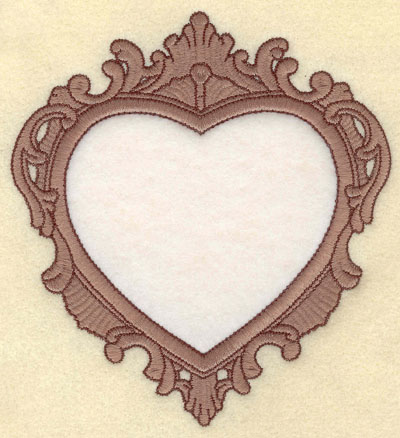 Embroidery Design: Heart Applique Two Color Border5.49w X 6.00h