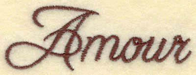 Embroidery Design: Amour3.01w X 1.06h