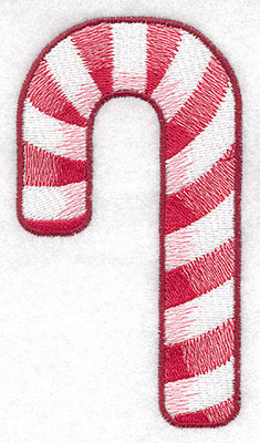 Embroidery Design: Candy cane large2.77w X 5.00h