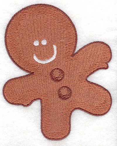 Embroidery Design: Gingerbread man large4.07w X 5.00h