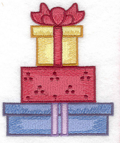 Embroidery Design: Gift boxes with bow large4.12w X 5.00h
