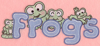 Embroidery Design: A Frogs8.76w X 3.95h