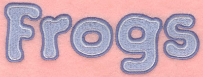 Embroidery Design: Frogs text7.00w X 2.68h