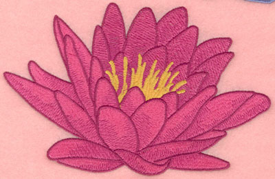 Embroidery Design: Water lily large7.00w X 4.53h
