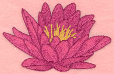 Embroidery Design: Water lily small5.00w X 3.24h
