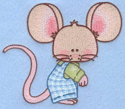 Embroidery Design: Boy mouse large5.00w X 4.19h