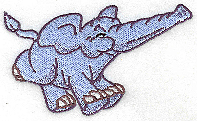 Embroidery Design: Elephant running large 4.97w X 2.93h