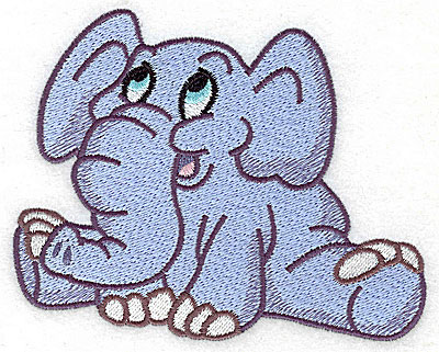 Embroidery Design: Elephant sitting large 4.97w X 4.02h